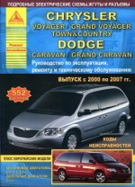 Книга по ремонту CHRYSLER TOWN / COUNTRY / VOYAGER / GRAND VOYAGER 2000-2007 бензин / дизель.Атласы