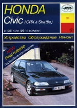 HONDA CIVIC / CIVIC CRX / CIVIC SHUTTLE 1987-1991 бензин Пособие по ремонту и эксплуатации
