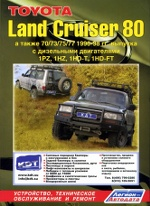 TOYOTA LAND CRUISER 80 1990-1998 бензин Пособие по ремонту и эксплуатации
